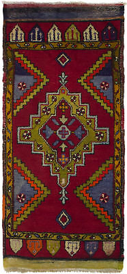 """Hand-knotted Turkish 1'10"""" x 4'0"""" Antique Shiravan Wool Rug...DISCOUNTED!"""