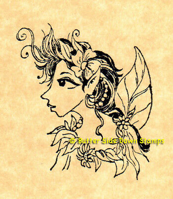 Forest Fairy Hardwood Mounted Rubber Stamp
