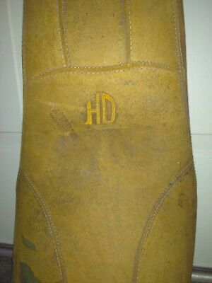 Harley Davidson Vintage Seat-Leather-Rough Condition