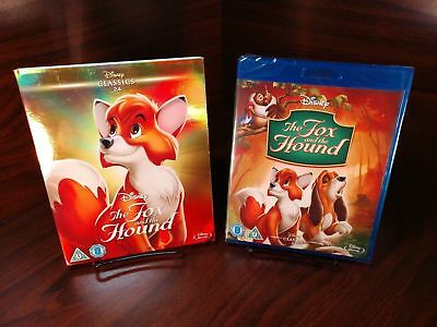 Disney's The Fox & The Hound(Blu-ray,REGION FREE)Collector Slipcover-NEW-FreeS&H