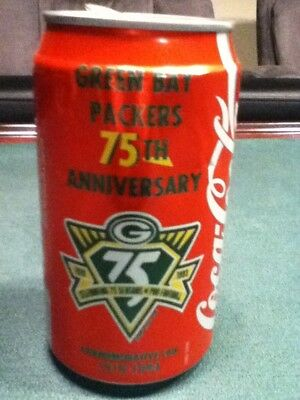 Packer Fans. Coke aluminum 75th anniversary of Green Bay Packers 1919-1993