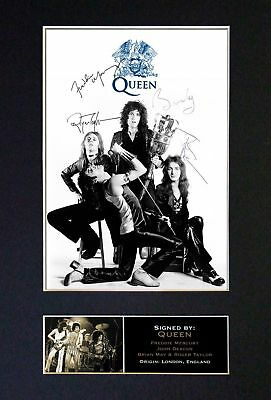 Queen / Freddie Mercury *RARE* FULL BAND Autographed Photograph - Museum Grade