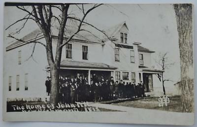 """New Richmond WI """"At Home of John Till"""" RPPC Postcard Famous Quack Healer Doctor"""