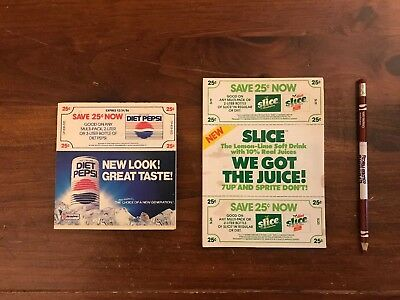 Vintage Diet Pepsi And Slice Coupons