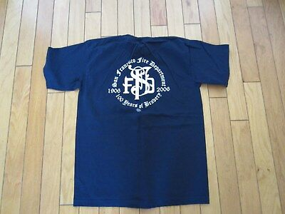 San Francisco Fire Dept Shirt '100 Years Of Bravery' In Large New