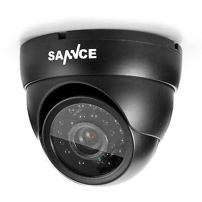 SANNCE 1pcs In/Outdoor 900TVL IR Cut Home Surveillance Dome CCTV Security Camera