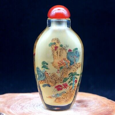 Chinese Handmade Inside painted ancient life and landscape snuff bottle2