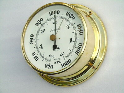 All Brass Passero Poland Ships Boat Yacht Marine Weather Aneroid Barometer