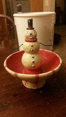 Johanna Parker Snowman candy dish for Bethany Lowe Designs, Christmas / Holiday