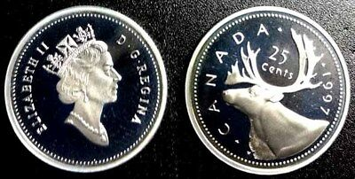 CANADA 1997 Silver 25 Cents PROOF Coin