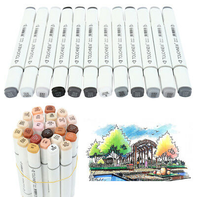 12/24 Colors Dual Headed Artist Sketch Copic Markers Pen For Animation Set