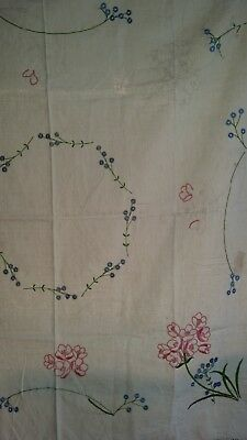 """Hard to Find 100% Linen Tray/Table Cloth to Finish Embroidery 50"""" x 50"""""""