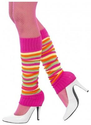 Leg warmers Legwarmers Anklewarmers 80's Neon Fluro Rave Costume Fancy Dress