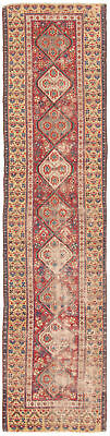 "Hand-knotted Turkish 2'8"" x 11'8"" Antique Shiravan Wool Sumak...DISCOUNTED!"