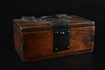G1949: Japanese Wooden CONTAINER for article Accessories Case Box Tea Ceremony