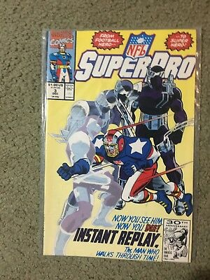 1991 Marvel Super Pro NFL Comic Book #3Issue - Special Edition  Issue 3. Unread