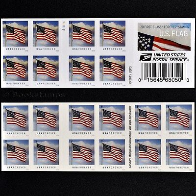 20 US Flag Forever Postage Stamps USA Old Glory Flagpole Cloudy Day 2016 USPS S1