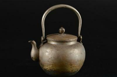 G1261: Japanese Finish hammer pattern OLD COPPER BOTTLE Teapot Dobin