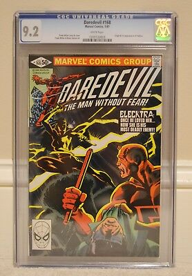 Daredevil 168 9.2 cgc first Elektra
