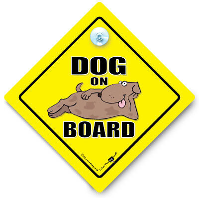 Dog On Board Car Sign, Dog On Board, Dog In Car Sign, Suction Cup Sign