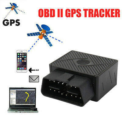New OBD 2 GPS SMS GPRS Tracker Real Time Car Vehicle Tracking Device System AU