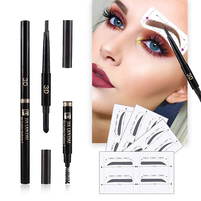 Eyebrow Stencils SET with 16 Unique Eyebrows Shape Stickers Reusable for Women