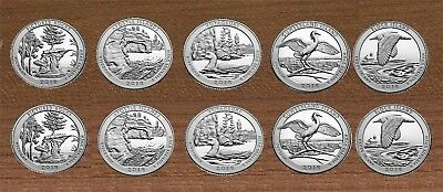 2018 National Park Quarters  P& D Yearly Uncirculated coin set