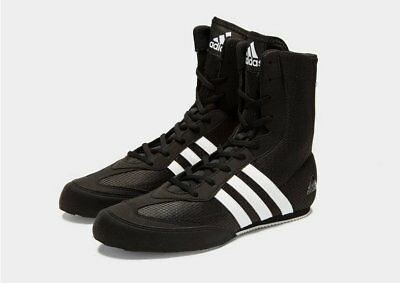 Adidas Box Hog 2 Boxing Boots Mens Black Sports Shoes Trainers Sizes 8-12.5