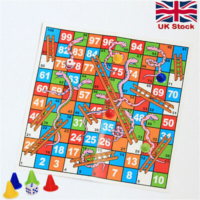 Snakes and Ladders Traditional Family Children's Game Out Door Funny Toy Gift UK