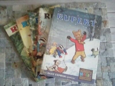 5 Daily Express Rupert Annuals 1971, 72, 73, 69 and 1967