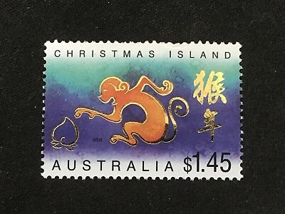 2004 Christmas Island Year Of The Monkey $1.45 Stamp - Very Fine Used