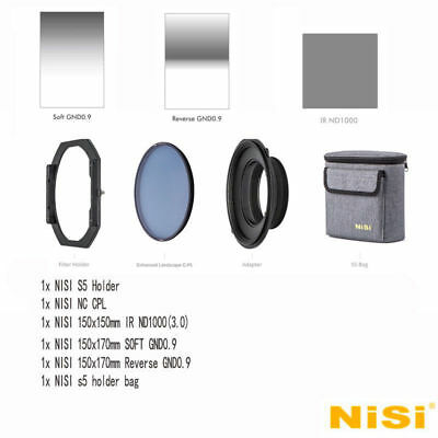 NISI S5 150mm Filter KIT Holder For NIKON 14-24mm F2.8+Soft +Reverse GND8+ND1000