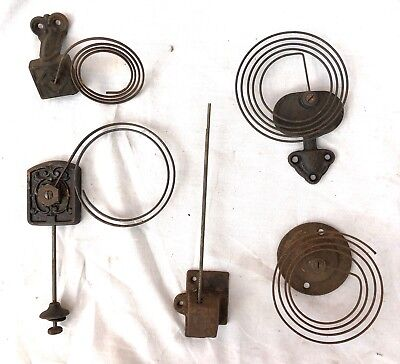 Five 5 Vintage / Antique Bracket Mantel Wall Clock Gongs & Stands / Rods & Stand