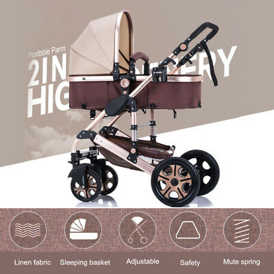 Baby Stroller Pushchair Seat Foldable Portable Travel Carriage Infant   US