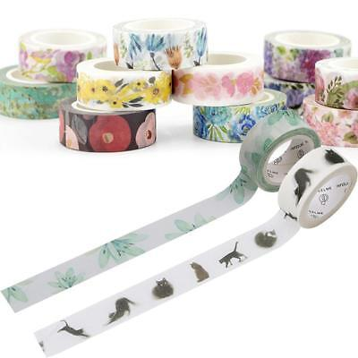 10X Wholesale Washi Masking Tape Scrapbook Papierkleber DIY Aufkleber Super N0V1
