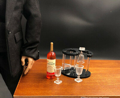 "1/6th Bar restaurant Scene Wine rack wine glass bottle Model For 12"" Action"