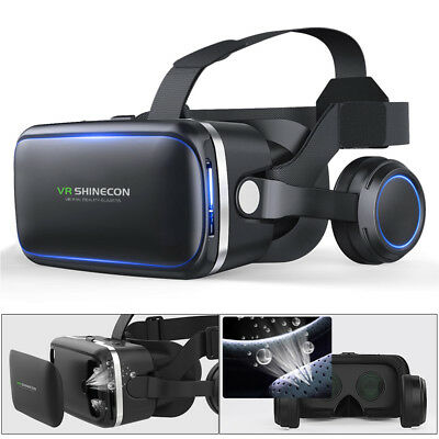 360° VR Shinecon Headset Virtual Reality 3D Glasses Iphone Samsung Sony Reality