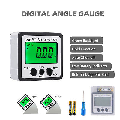 LCD Digital Bevel Box Gauge Angle Finder Protractor Inclinometer Magnetic Level