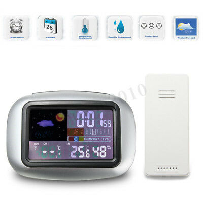 LCD Digital Indoor/Outdoor Wireless Weather Station Clock Thermometer