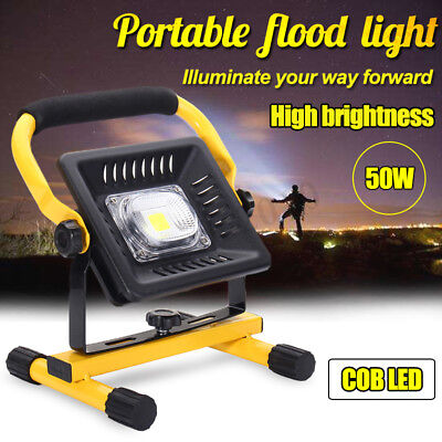 50W Portable Work Light Rechargeable COB LED Flood Spot Camping Lamp 3