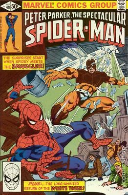 Spectacular Spider-Man (1st Series) #49 1980 VG+ 4.5 Stock Image Low Grade