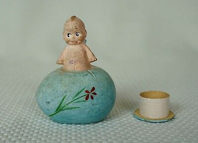 "RARE Composition/Paper Mache Kewpie Doll on Easter Candy Container ""Rose O'Neil"""