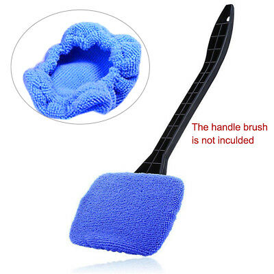 Blue Microfiber Car Window Cleaner Windshield Handy Easy Shine Brush Tool T9H0