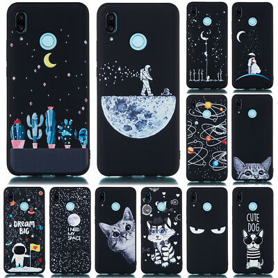 Painted Soft Silicone Case Cover For Huawei P Smart+ P30 P20 Pro P9 P8 Lite 2017