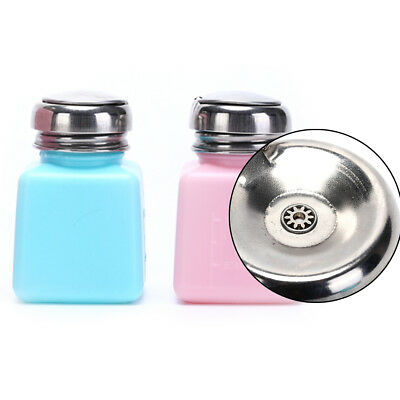 Empty Pump Dispenser Bottle Container Cleaner Nail Polish Remover 100mL gv