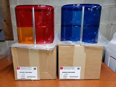 FEDERAL SIGNAL mini AeroDynic CAL RED / BLUE dome set of 2 (2 panel) BRAND NEW!!