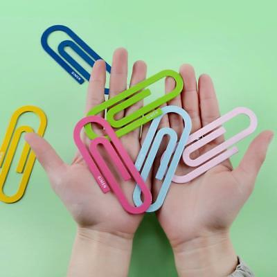 2Pcs Large Metal Bookmark Paper Clips Office School Study Stationery Supplies