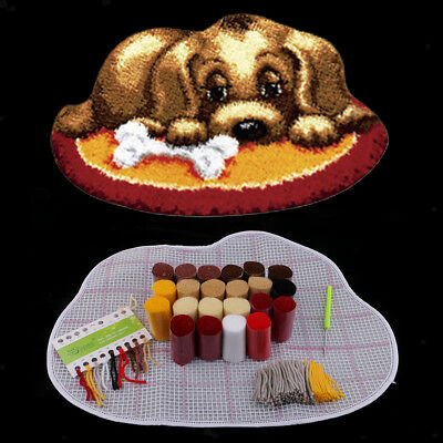 Dog Latch Hook Kits Embroidery Needlework Supplies for Rug Cushion 50x36cm