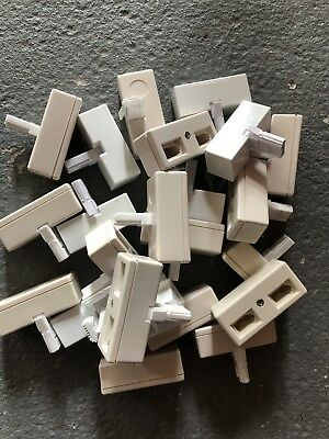 Job Lot 23 BT Adaptor Double Telephone Phone Socket 2 way Cable Splitter Adapter