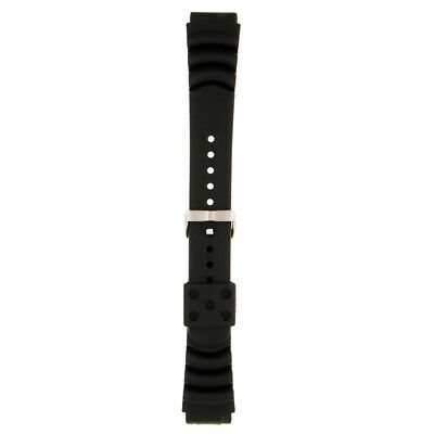 Luxury Black Perforated Silicone Rubber Watch Strap Band Waterproof Resin